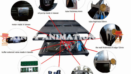 5D Hydraulic 5d Cinema Equipment Parameter