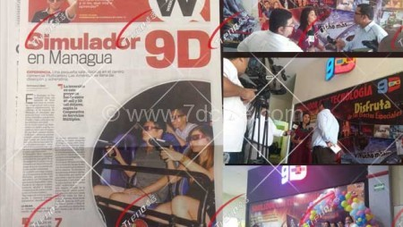 The el nuevo diario in Managua Have Boarded 9D Theater of Our Client