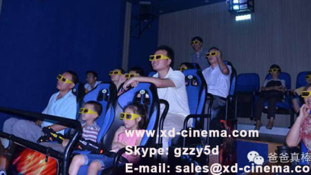 Son's interest is father's Driving force to open the 7d theater