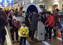 Xindy newest immersive virtual reality cinema in shopping mall