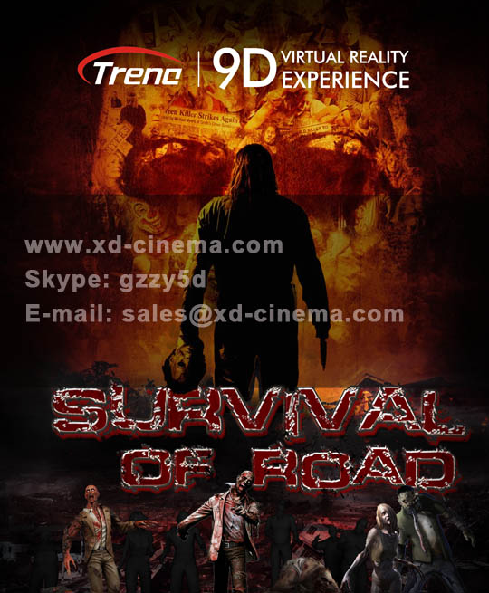 Survival of road- 9d vr film