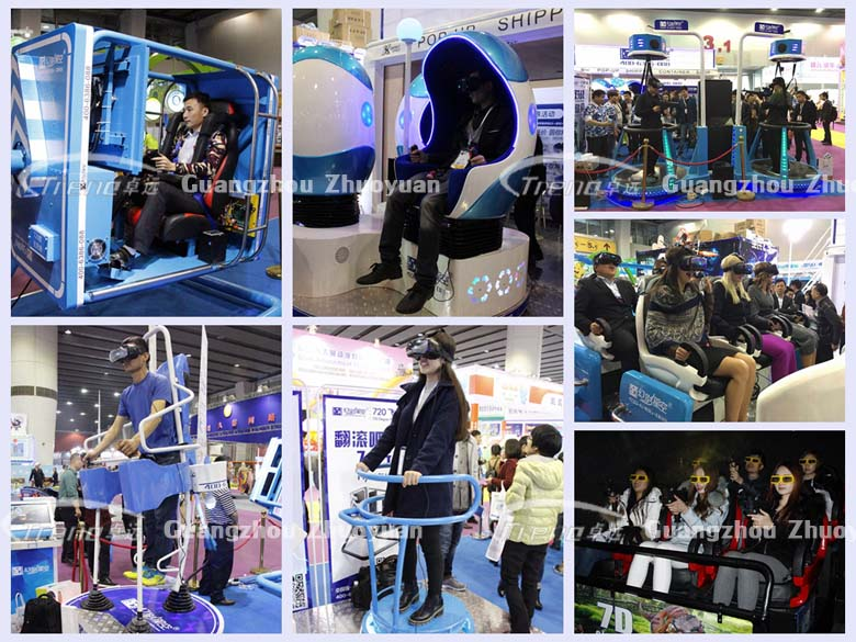 Let's experience the Xindy VR machine in 119th Canton Fair (2)