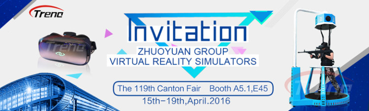 Let's experience the Xindy VR machine in 119th Canton Fair
