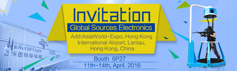 Xindy Virtual Reality Simulator Treadmill will be shown in Global Sources Electronics (1)
