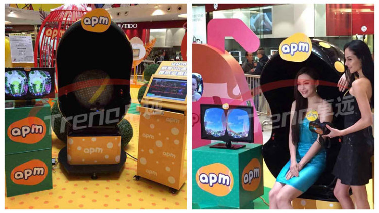Xindy amazing 9d vr product in Hong Kong APM Mall