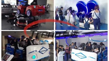 9d simulator and racing simulator in car store