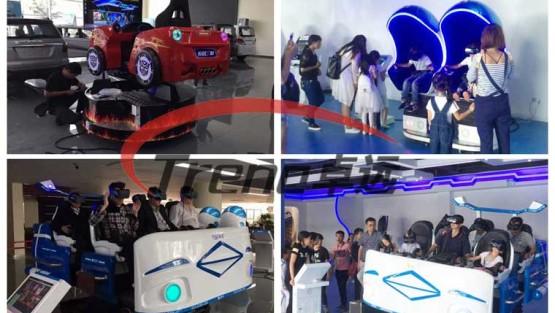 9d simulator and racing simulator in car store