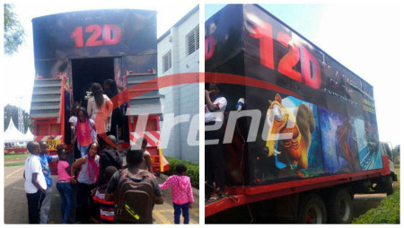 Mobile 7d theater is our client perfect business project in Kenya