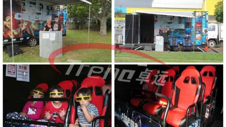 Xindy truck mobile 5d theater in New Zealand