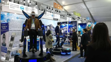 Xindy VR machine in USA CES Exhibition.