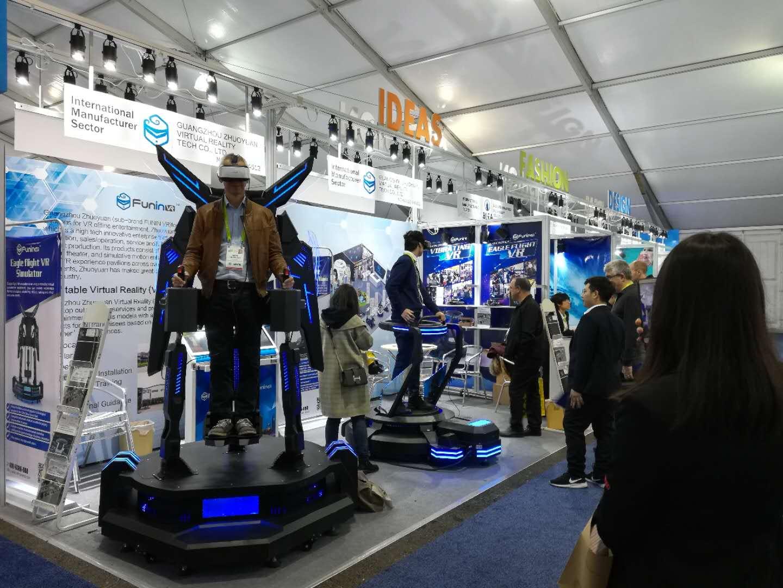 Guangzhou zhuoyuan VR machine in USA CES Exhibition