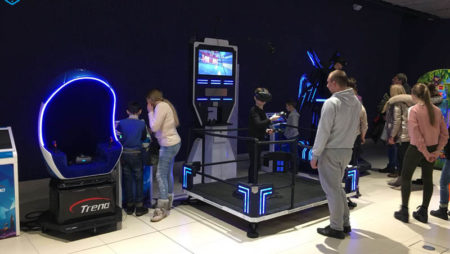 Xindy's virtual reality simulator in Ukraine