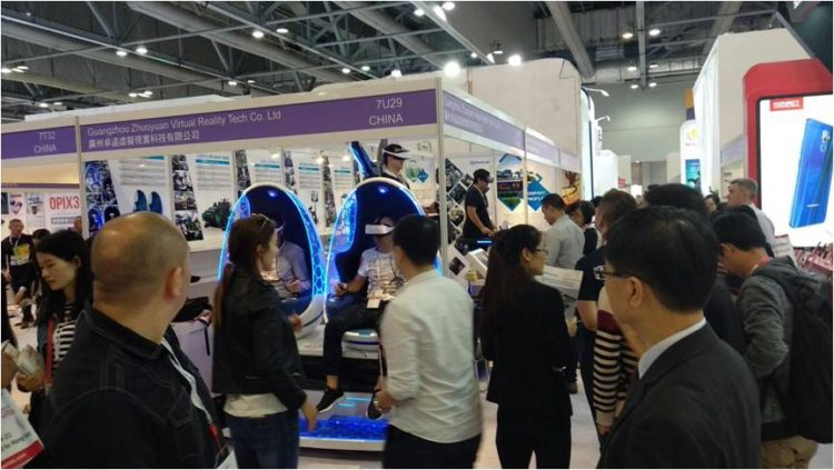 Xindy's VR Products displayed at Hong Kong Global Mobile Electronics Exhibition